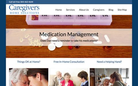 Screenshot of Home Page caregivershomesolutions.com - Home - Caregivers Home Solutions - captured Jan. 25, 2016