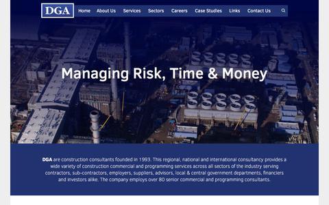 Screenshot of Home Page dga.eu.com - Construction Consultants - DGA EU - captured Feb. 8, 2016