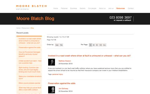 Screenshot of Blog mooreblatch.com - Moore Blatch - Blog - captured Nov. 29, 2016