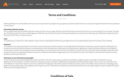 Screenshot of Terms Page agentdraw.co.uk - Legal - Agentdraw - captured Oct. 3, 2018