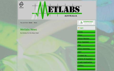 Screenshot of Press Page metlabsaust.com.au - Metlabs NDT News - captured Nov. 3, 2014