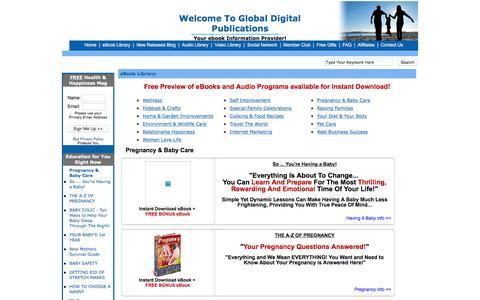 Screenshot of Products Page globaldigitalpublications.com - Ebooks, audio books ,Downloadable Software Library | Global Digital Publications - captured Feb. 15, 2016