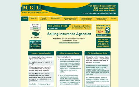 Screenshot of Home Page agency-broker.com - Do you want to sell an insurance agency? | Agency-Broker.com - captured Dec. 1, 2017