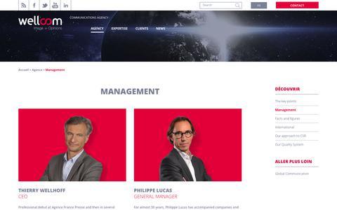 Screenshot of Team Page wellcom.eu - Management of the Corporate Communication Agency Wellcom, Paris - captured Dec. 28, 2017