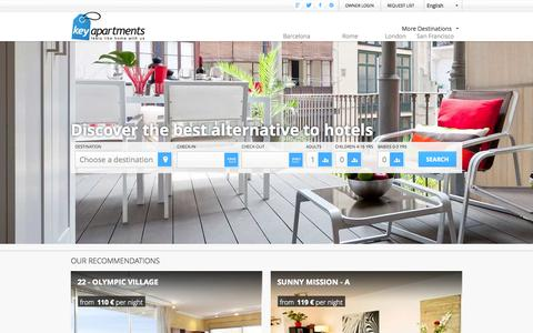 Screenshot of Home Page keyapartments.com - Apartments and holiday rentals in Europe – KeyApartments - captured Sept. 30, 2014