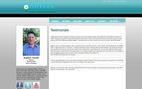 Screenshot of Testimonials Page southflorida-fine-homes.com - Testimonials - captured June 6, 2016