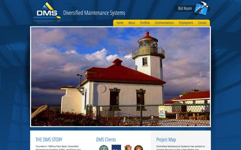Screenshot of Home Page dmsutah.com - Diversified Maintenance Systems - captured Sept. 12, 2015
