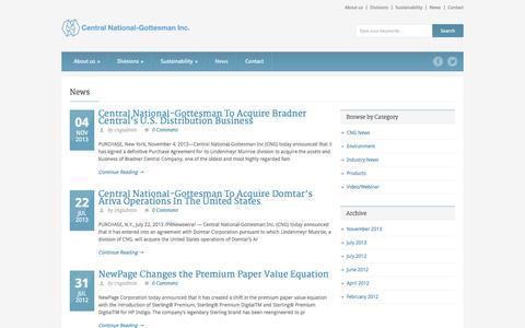 Screenshot of Press Page cng-inc.com - Central National-Gottesman Inc.   » News - captured Oct. 22, 2014