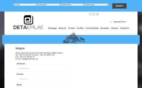 Screenshot of Contact Page detaemlak.com - Deta Emlak - captured Oct. 5, 2014