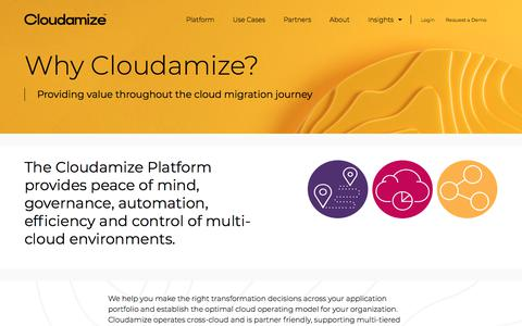 Screenshot of About Page cloudamize.com - About | Cloudamize - captured Sept. 14, 2019