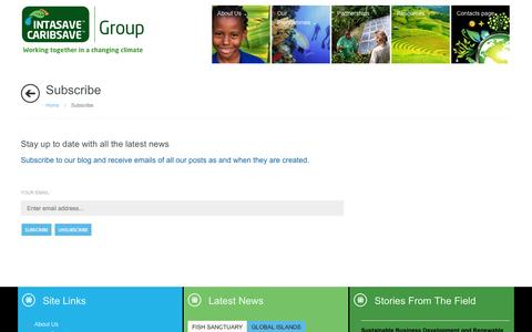 Screenshot of Signup Page intasave-caribsave.org - Subscribe - captured Oct. 4, 2014