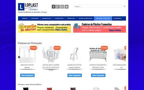 Screenshot of Home Page loplastvendas.com.br - Mesas e Cadeiras Plástico, Madeira e Aço   LoplastVendas - captured Feb. 1, 2016