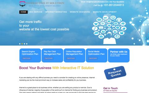 Screenshot of Home Page Privacy Page interactiveitsolution.com - Search Engine Optimization Service New Delhi   Website Development Service India - captured Jan. 9, 2016