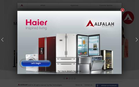 Screenshot of Home Page alfalah.com.pk - Alfalah Business Group - captured Oct. 4, 2014