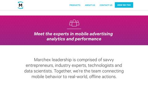Screenshot of Team Page marchex.com - Marchex Leadership: Experts in Mobile Advertising Analytics - captured Sept. 21, 2016