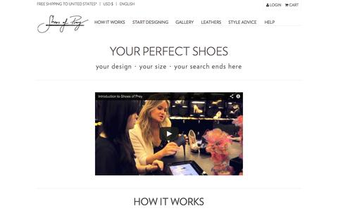 Screenshot of About Page shoesofprey.com - How It Works - Shoes of Prey - captured Sept. 17, 2014