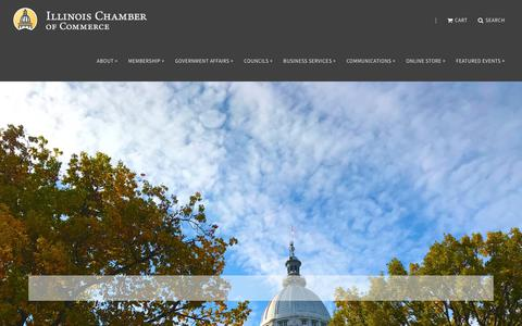Screenshot of Home Page ilchamber.org - Illinois Chamber of Commerce - captured Oct. 11, 2018