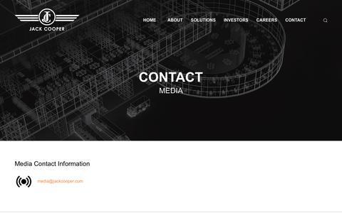 Screenshot of Contact Page Press Page jackcooper.com - Jack Cooper - Contact - Media - captured Sept. 26, 2018