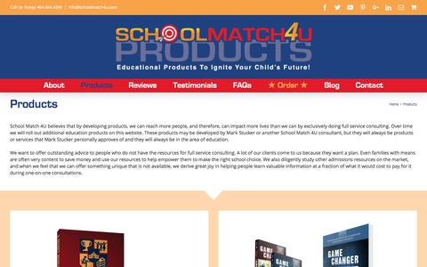 Screenshot of Products Page schoolmatch4uproducts.com - Products – School Match 4U Products - captured Oct. 26, 2016