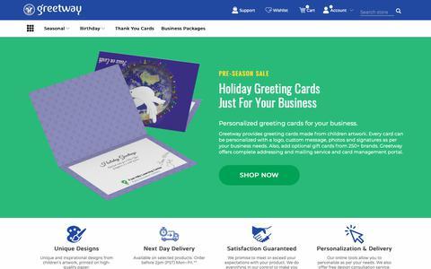 Screenshot of Home Page greetway.com - Greetway Greeting Cards - captured Nov. 11, 2018