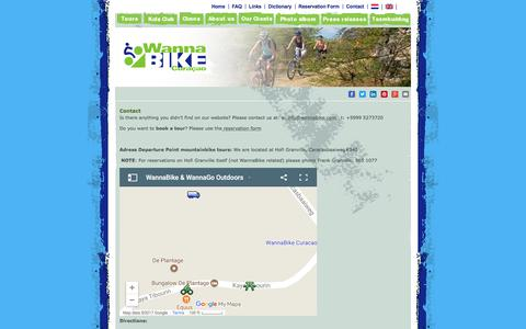 Screenshot of Contact Page wannabike.com - Contact WannaBike | Wannabike Curacao Bike Tours - captured Oct. 26, 2017
