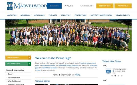 Screenshot of Privacy Page marvelwood.org - Parents - Marvelwood School - captured Oct. 17, 2018