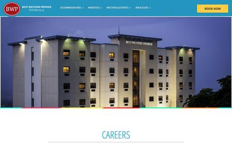 Screenshot of Jobs Page bestwesternpremierhaiti.com - Careers - captured Oct. 5, 2018