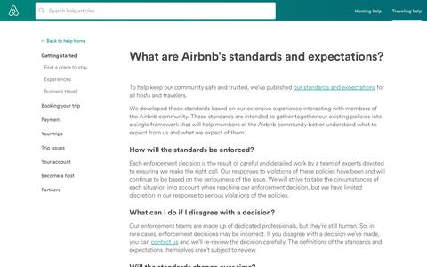 What are Airbnb's standards and expectations? | Airbnb Help Center