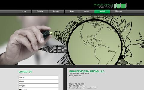 Screenshot of Contact Page miamidevicesolutions.com - Contact - captured Oct. 18, 2017