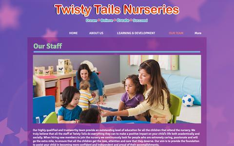 Screenshot of Team Page twistytails.co.uk - OUR TEAM | Twisty Tails Daycare Nursery Colindale and Pinner - captured May 29, 2019