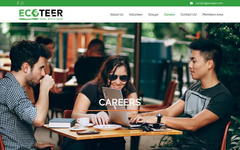 Screenshot of Jobs Page ecoteer.com - Start your conservation career in Malaysia - Ecoteer Careers - captured Oct. 21, 2018
