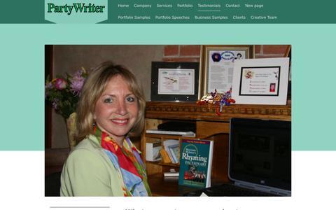 Screenshot of Testimonials Page partywriter.com - Partywriter - Testimonials - captured Nov. 10, 2018