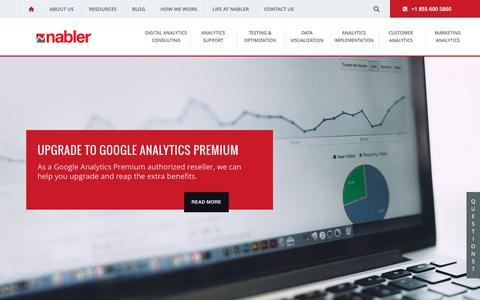 Nabler: The Digital Analytics Company; Web Analytics simplified
