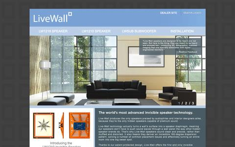 Screenshot of Home Page live-wall.com - Live-Wall: The Best Speakers You'll Never See - captured Sept. 10, 2015