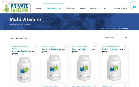 Multi Vitamins Archives - Private Label Supplements and Vitamins