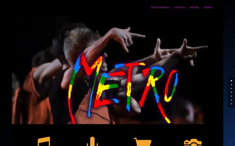 Screenshot of Home Page musical-metro.pl - Musical Metro Szczecin - captured Sept. 13, 2015