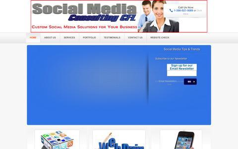 Screenshot of Home Page socialmediaconsultingcfl.com - Social Media Consulting CFL - captured Oct. 7, 2014