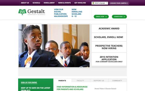 Screenshot of Home Page Site Map Page gestaltcs.org - Gestalt Community Schools - captured Oct. 2, 2014