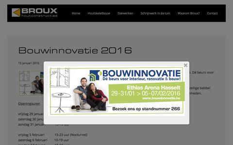 Screenshot of Blog broux.com - Blog | Broux Houtconstructies Overpelt - captured Feb. 7, 2016