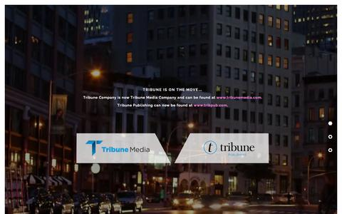 Screenshot of Home Page tribune.com - Tribune Company is on the move... - captured Sept. 19, 2014