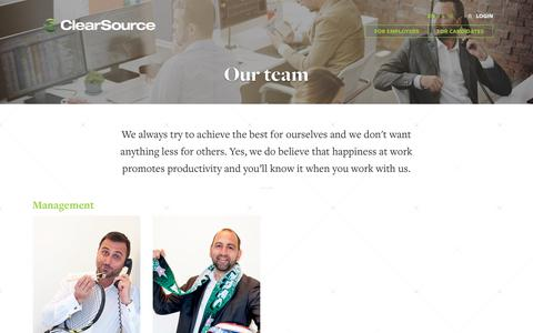 Screenshot of Team Page clearsource.eu - Our team | Clearsource - captured July 18, 2018