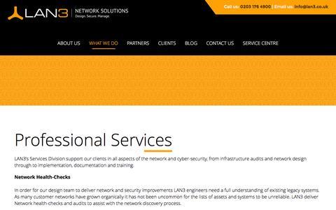 Screenshot of Services Page lan3.co.uk - Managed Services - captured Jan. 24, 2016