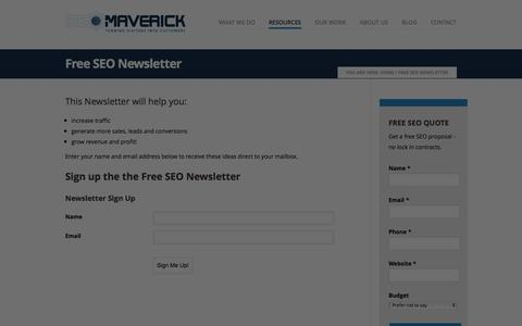 Screenshot of Signup Page seomaverick.com.au - Free SEO Tips and Advice - captured Sept. 19, 2014