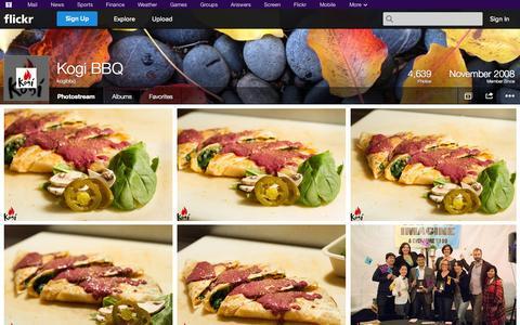 Screenshot of Flickr Page flickr.com - Flickr: kogibbq's Photostream - captured Oct. 23, 2014