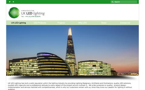 Screenshot of Home Page ukledlighting.com - UK LED Lighting - UK LED Lighting - captured June 17, 2015