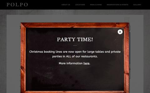 Screenshot of Locations Page polpo.co.uk - Polpo - Award winning italian restaurants - captured Nov. 8, 2016