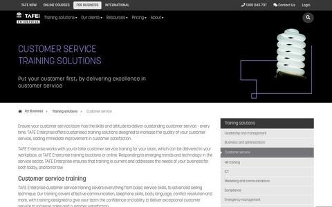 Screenshot of Support Page tafensw.edu.au - Customer Service | TAFE Enterprise - TAFE NSW - captured July 19, 2019