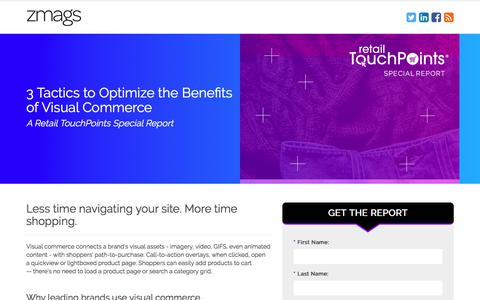Screenshot of Landing Page zmags.com - Zmags | Visual Commerce: 3 Tactics for Success - captured March 27, 2018