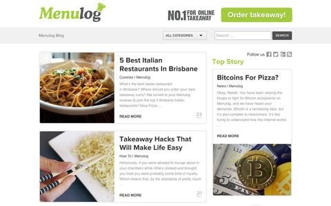 Screenshot of Blog menulog.com.au - Menulog Blog - No. 1 For Online Takeaway! - captured Oct. 27, 2014