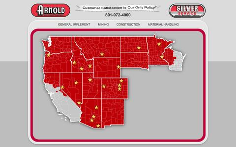 Screenshot of Locations Page arnoldmachinery.com - Find a Location » Arnold Machinery - captured Oct. 4, 2014
